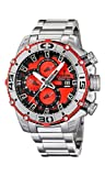 Festina Chrono Bike 2012 Men's Quartz Watch with Red Dial Chronograph Display and Silver Stainless Steel Bracelet F16599/8