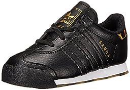 adidas Originals Samoa I Fashion Sneaker (Infant/Toddler), Black/Black/Gold, 7.5 M US Toddler