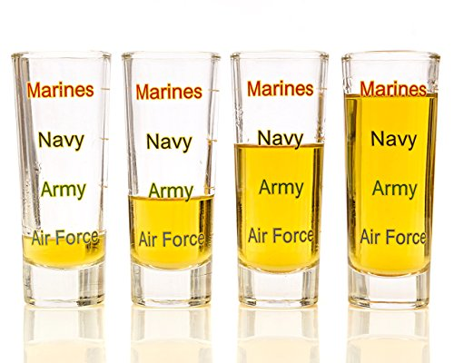 military-levels-shot-glass-4-pack-marine-corps-navy-army-air-force-gift-set-veteran