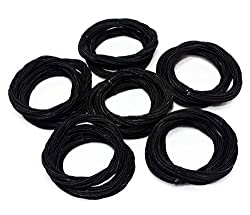 18pc Black Twist Hair Ties Sgee71a