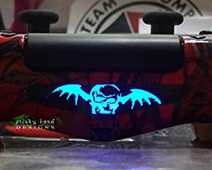 Ps4 Controller Light Bar Decals Stickers Qty 2 Avenged Sevenfold Death Bat