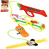Holi Water Gun - Holi Gifts Set Of 2 Goggles And Watch Water Guns