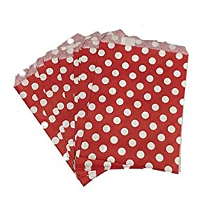 PrettyurParty Red Polka Dot Favor Bag