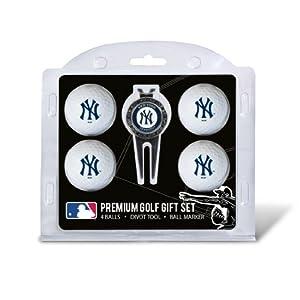 MLB New York Yankees 4 Ball Gift Set, Navy by Team Golf