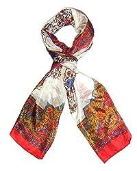 Beautiful floral pure silk stole, scarf, dupatta from Indian Fashion Guru