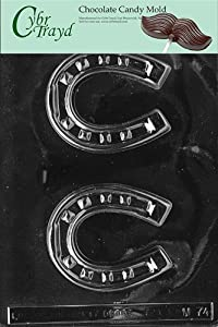 Cybrtrayd M074 Horseshoe Chocolate Candy Mold with Exclusive Cybrtrayd Copyrighted... by CybrTrayd