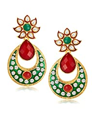Sukkhi Attractive Gold Plated Australian Diamond Earrings