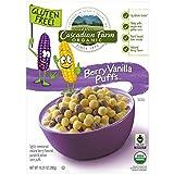 Cascadian Farm Cereal Organic Berry Vanilla Puff Cereal Box, 10.25 Ounce