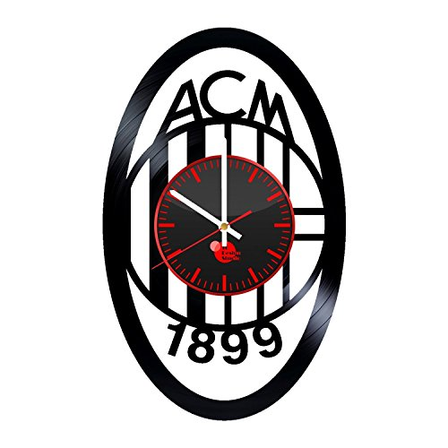 AC-Milan-Handmade-Vinyl-Record-Wall-Clock-Fun-gift-Vintage-Unique-Home-decor-Art-Design-Retro-Interier