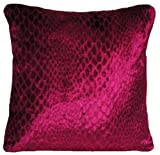 Fuchsia Square Cushion Cover Pink Velvet Pillow Throw Case Osborne and Little Limpopo