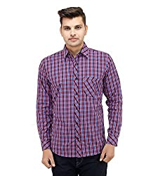LEAF Men's Checkered Casual Shirts