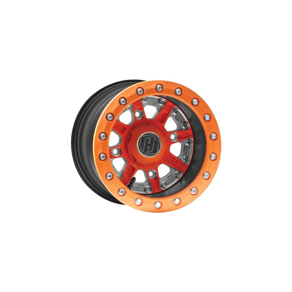 Hiper Wheel Sidewinder 2 Wheels   14x10   5+5 Offset   4/156   Orange , Position Front/Rear, Wheel Rim Size 14x10, Rim Offset 5+5, Bolt Pattern 4/156, Color Orange 1410 POLOR 55 DBL OR
