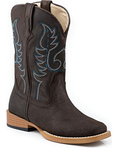 Roper Toddler-Boys' Traditional Western Stitched Cowboy Boot Brown US
