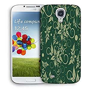 Snoogg Green Flowers Printed Protective Phone Back Case Cover For Samsung S4 / S IIII