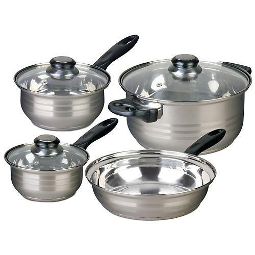 Alpine cuisine 3 piece stainless steel tea pot set dealtrend for Alpine cuisine cookware set