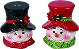 2 Piece Ceramic Snowman Salt and Pepper Shakers Set