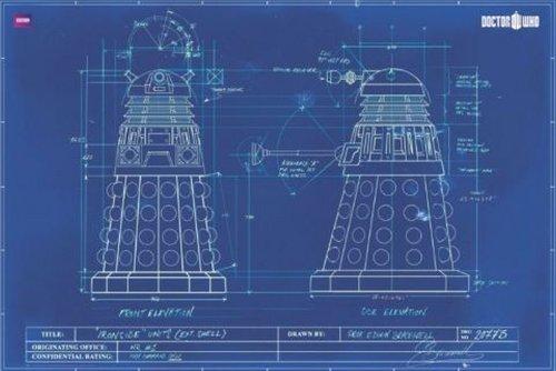"1art1 55195, Poster ""Doctor Who: Dalek"", 91 x 61 cm, colore: Blu"