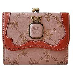 (アナスイ) ANNA SUI ウォールデコ 二つ折り がま口 財布 ピンク
