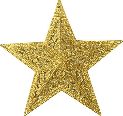 glitter star 10 1/4 inch gold