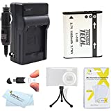 Battery And Charger Kit For Olympus SZ-12 XZ-1 SZ-10 SZ-20 SZ-30MR SP-800UZ SP-810UZ SZ-11 SZ-31MR iHS, SZ-16 iHS, sz-15, TG-850 iHS,TG-860 Camera Includes Replacement LI-50B Battery + Charger + More