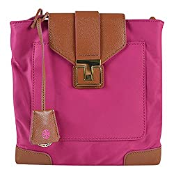 Tory Burch Nylon Penn Swingpack Fuchsia Luggage