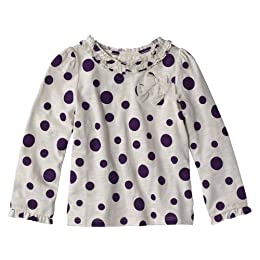 Product Image Infant Toddler Girls' Cherokee® Purple Long-Sleeve Ruffle Tee