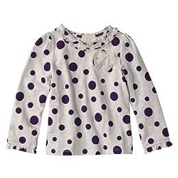 Product Image Infant Toddler Girls' Cherokee® Purple Long-Sleeve Ruffle Tee