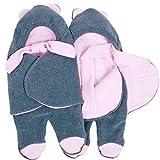 Sevira Kids - Mono para beb� (uso en sillitas y carritos, disponible en varias tallas y colores) gris gris - rosa Talla:92 cm 12 - 24 meses