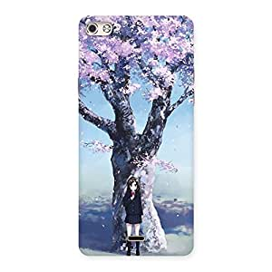 Special Premier Cherry Blossom Multicolor Back Case Cover for Micromax Canvas Silver 5