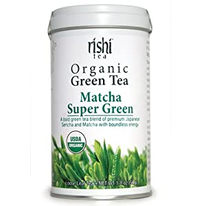 Rishi Tea Organic Green Tea' Matcha Super Green, 1.76-Ounce