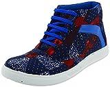 Good Luck Footwear Men's Blue Canvas High Top Shoes - 6 UK