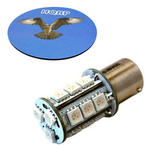 Hqrp Bau15S Bayonet Base 18 Leds Smd 5050 Led Bulb Amber For 1057, 0482, 7528, 7507, 17638, 17640-Narva, 581 Replacement Plus Hqrp Coaster