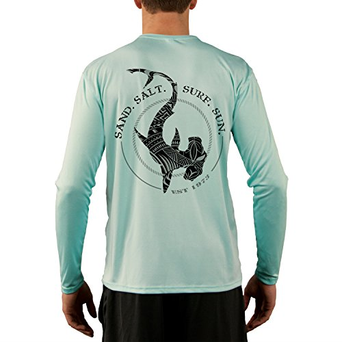 SAND.SALT.SURF.SUN. Men's Polynesian Hammerhead Tribal UPF Performance T-shirt XX-Large Seagrass