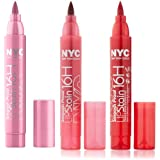 New York Color Smooch Proof Rock On Ruby, Champagne Stain and Persistent Pink Lip Stain Set with Dimple Bracelet