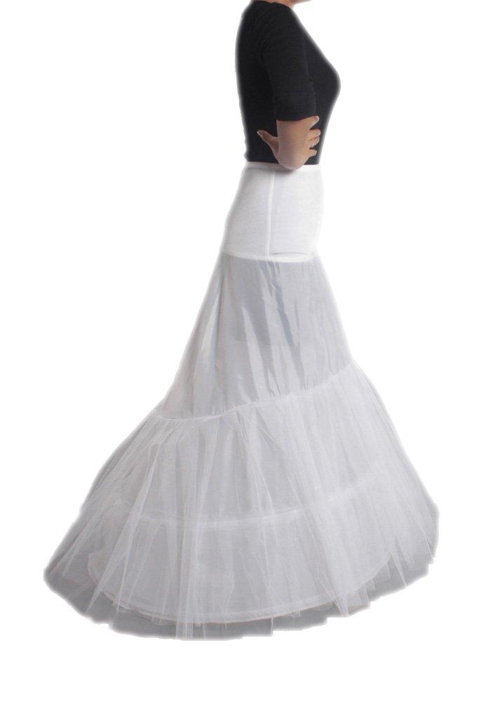 XYX Frauen-Hochzeits PetticoatUnderskirt Schlupf Krinoline FISHTAIL WEISS XS-M günstig online kaufen