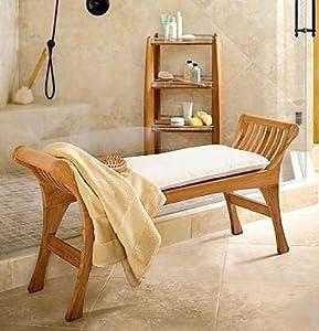 Amazon.com: New Elegant Grade A Teak Shower / Pool / Bath Bench ...