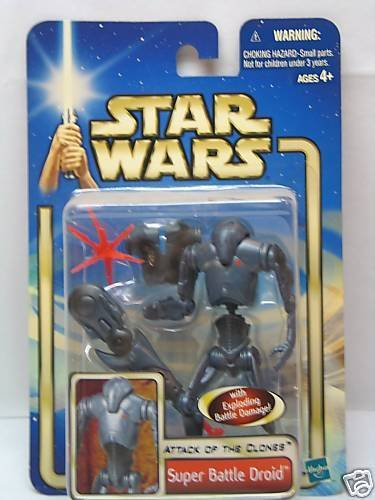 Buy Low Price Hasbro Star Wars Attack of The Clones Super Battle Droid Action Figure With Exploding Battle Damage (B003MNFE0I)