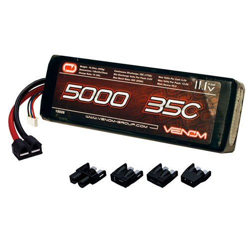 Venom 15026 3S 11.1V 35C 5000mAh LiPo, Universal Plug