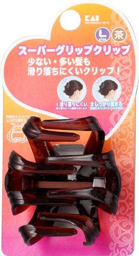 貝印 スーパーグリップクリップL 茶 HA0504