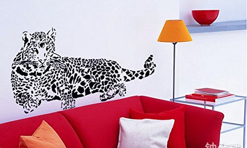 Removable Living Room Television Background Pvc Wall Stickers Cheetah front-533020