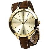 Michael Kors Runway Quartz Gold Dial Women's Analog Watch #MK2256