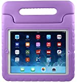 iPad 2 Kids Case : Stalion® Safe Shockproof Protection for Apple iPad 2/3/4 (2nd, 3rd, & 4th Gen)[Lifetime Warranty](Purple Grape) Kid Proof + Ultra Lightweight + Comfort Grip Carrying Handle + Folding Stand