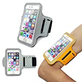 iPhone6 Sports Armband, Nancy's shop Easy Fitting Sports Universal Armband With Build In Screen Protect Case Cover Running band Stylish Reflective Walking Exercise Mount Sports Sports Rain-proof Universal Armband Case+ Key Holder Slot for Iphone 6 (4.7 Inch) (Gray)