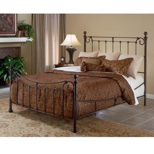 Hillsdale Furniture 1175Bqr Riverside Bed Set With Rail, Queen, Antique Bronze front-962210