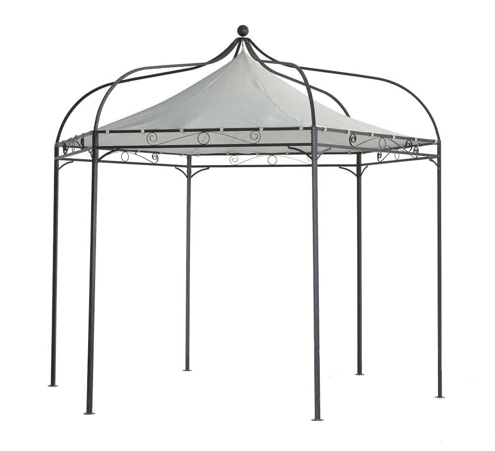 Luxus Pavillon Modena 6-eckig 320cm, Dach wasserdicht écru günstig kaufen