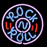 HOZER Professional 17*14 Rock Roll Decorate Neon Light Sign Store Display Beer Bar Sign Real Neon Signboard for Restaurant Convenience Store Bar Billiards Shops