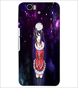PrintDhaba Cute Girl D-4476 Back Case Cover for HUAWEI NEXUS 6P (Multi-Coloured)