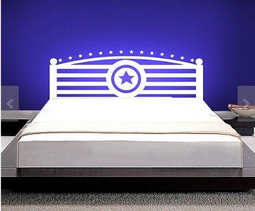 Captain America headboard wall decal