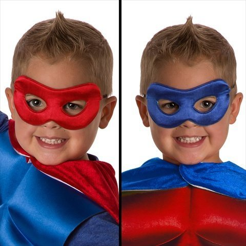 Little Adventures Face Mask Red/Blue front-12328