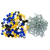 All Trade Direct 80 Pk Caps & Screws Car Number Plate Fixing Fitting Kit
